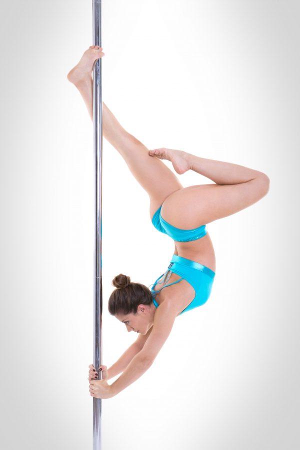 culottes pole dance azzurra